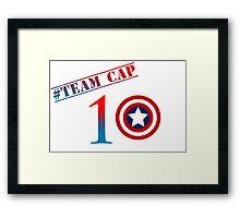 Captain America - Team Cap Framed Print