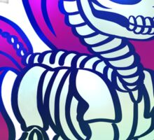 Skeleton Pony Sticker