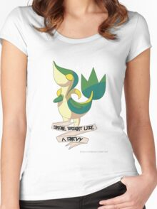 Shine Bright Like A Snivy - Pokemon Women's Fitted Scoop T-Shirt
