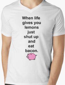 Shut up and eat bacon - 1 Mens V-Neck T-Shirt