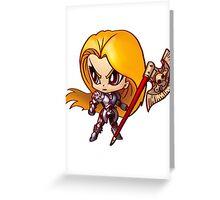 Chibi Knight Greeting Card