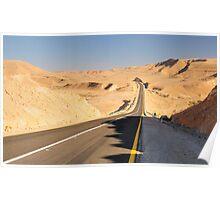 Desert road. Poster