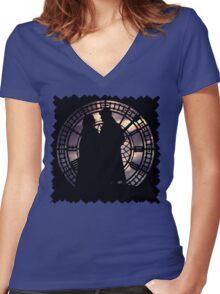 Captain Swan Women's Fitted V-Neck T-Shirt