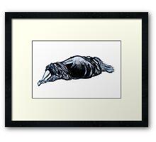figure study: lying down (2011) Framed Print