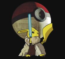 Jedi Pika Chu With Pokeball Planet by threesecond