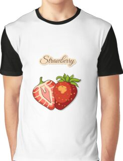 Seamless Pattern With Strawberry Graphic T-Shirt