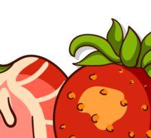 Seamless Pattern With Strawberry Sticker