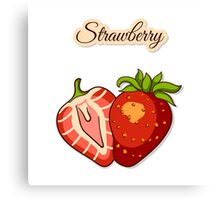 Seamless Pattern With Strawberry Canvas Print