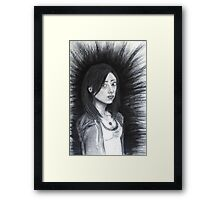 resting bitch face syndrome (2014) Framed Print