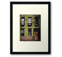 Green Facade. Framed Print