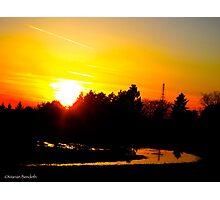 Rainfall dusk Photographic Print