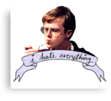 Dane DeHaan - I hate everything Canvas Print