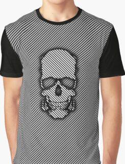 Stripy Skull Graphic T-Shirt