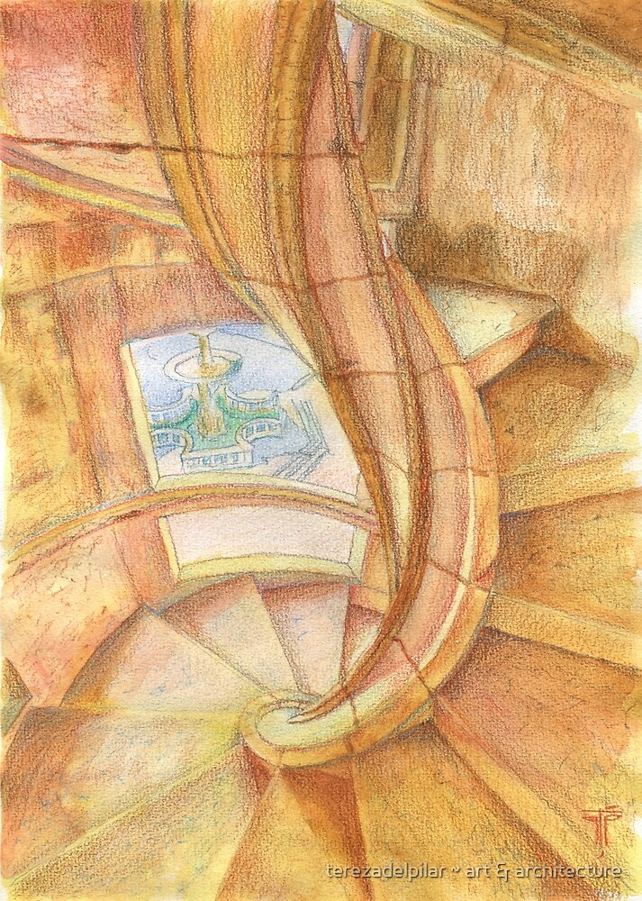 Tomar. Convent. cloister stairs by terezadelpilar~ art & architecture