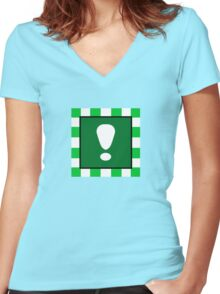 Metal Cap Women's Fitted V-Neck T-Shirt