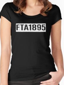 FTA 1895 (WHITE) Women's Fitted Scoop T-Shirt