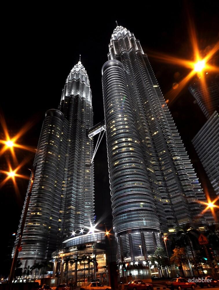 Petronas Twin Towers at night by Trevor Needham