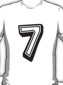 7 seven comic cartoon 3D design T-Shirt