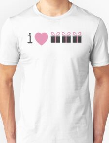 I love presents in small gift boxes  Unisex T-Shirt