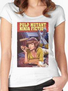 Pulp Mutant Ninja Fiction Women's Fitted Scoop T-Shirt