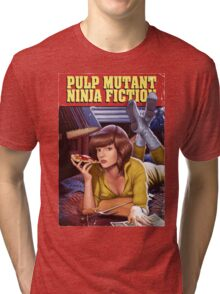 Pulp Mutant Ninja Fiction Tri-blend T-Shirt
