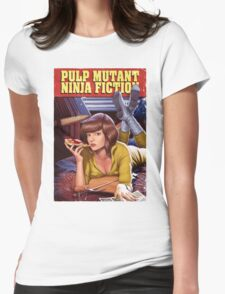 Pulp Mutant Ninja Fiction Womens Fitted T-Shirt