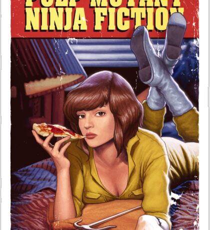 Pulp Mutant Ninja Fiction Sticker