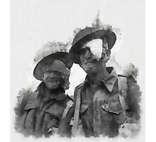 Wounded Heroes - WWII Photographic Print
