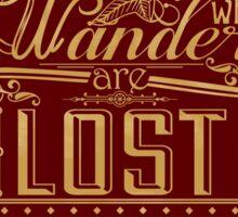 Lost Typography - STICKER (red) Sticker