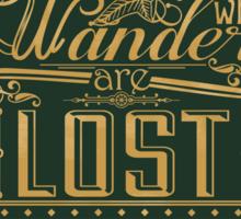 Lost Typography - STICKER (green) Sticker