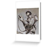 To War - WWII Soldier Greeting Card
