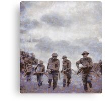 To War - WWII Soldiers Canvas Print