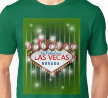 Welcome to fabulous Las Vegas Nevada sign in green background, vector Unisex T-Shirt
