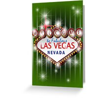 Welcome to fabulous Las Vegas Nevada sign in green background, vector Greeting Card
