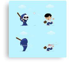 baseball death Canvas Print