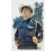 Civil Defence Warden - WWII Photographic Print