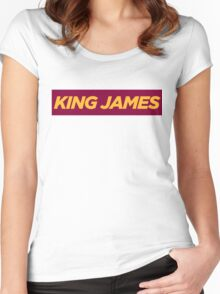 JAMES. Women's Fitted Scoop T-Shirt