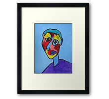 Abstract Cubism Contemporary Fine Art Framed Print