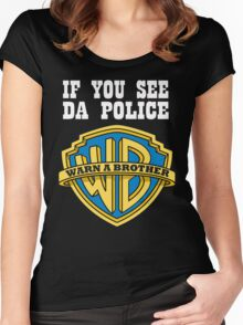 If you see da Police Women's Fitted Scoop T-Shirt
