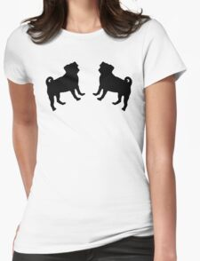 Pug Pattern Womens Fitted T-Shirt