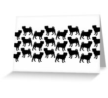 Pug Pattern Greeting Card