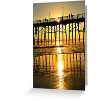Sunset, Rays, Lines, and Shadows Greeting Card