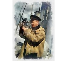 Royal Naval Officer - WWII Photographic Print