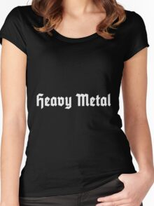 Heavy Metal (White) Women's Fitted Scoop T-Shirt
