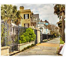 Rainbow Row: Charleston, SC Poster