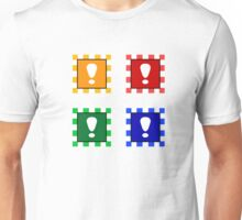 Power-up Blocks (Square version) Unisex T-Shirt