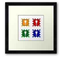 Power-up Blocks (Square version) Framed Print