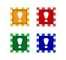 Power-up Blocks (Square version) Photographic Print