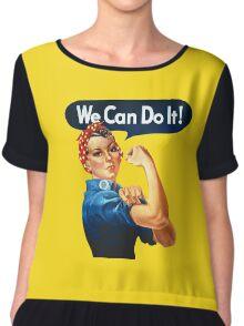 we can do it Chiffon Top