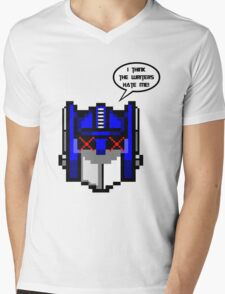 Optimus Prime Pixel Mens V-Neck T-Shirt